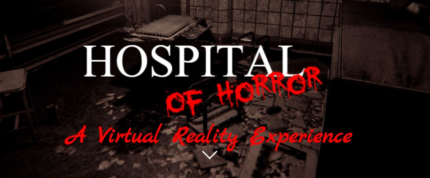 Hospital of Horror red dripping text